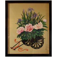 Large Framed Japanese Traditional Wall Decorative Art ...
