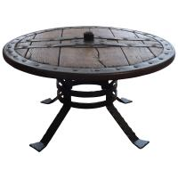 Medieval Forged Iron and Hardwood Wagon or Chariot Wheel ...