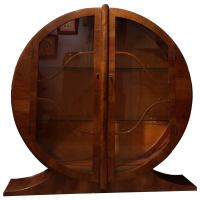 Mid Century Italian Art Deco Style Maple China Cabinet ...