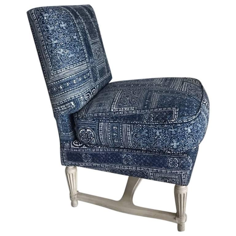 Paisley Chair Beautiful Slipper Chair Upholstered In Ralph Lauren Paisley Frabic