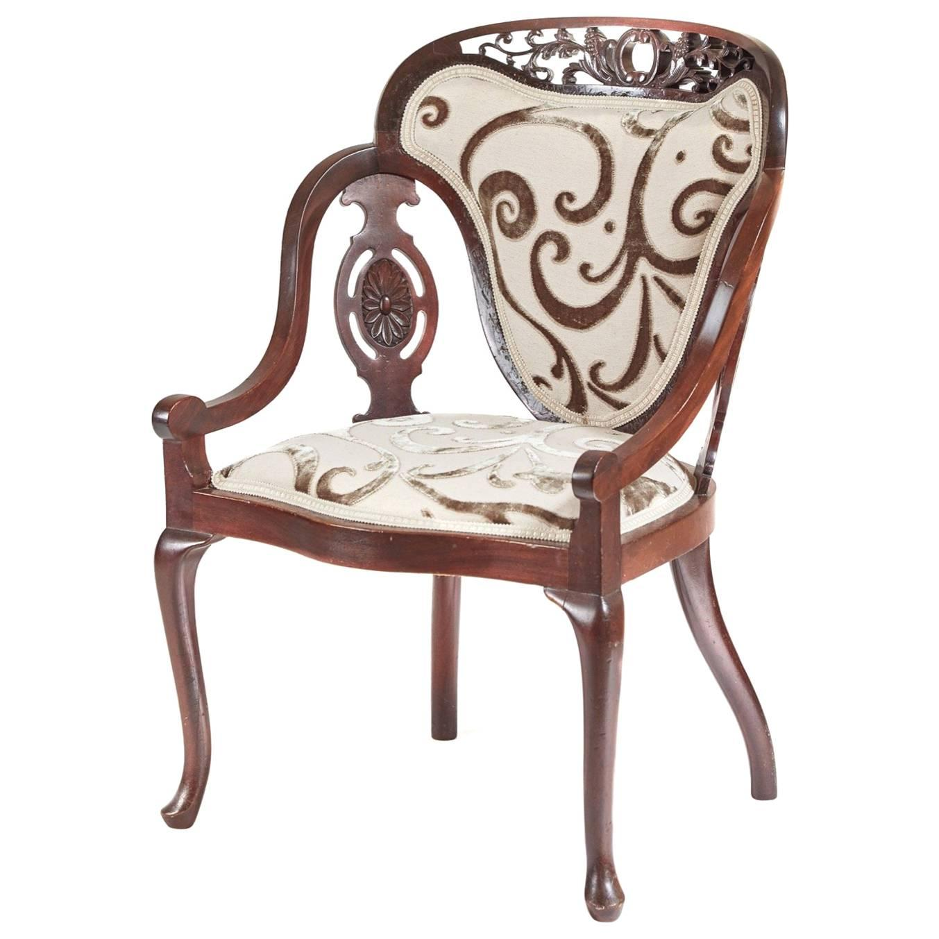 unusual armchair precor stretching chair carved mahogany for sale at 1stdibs