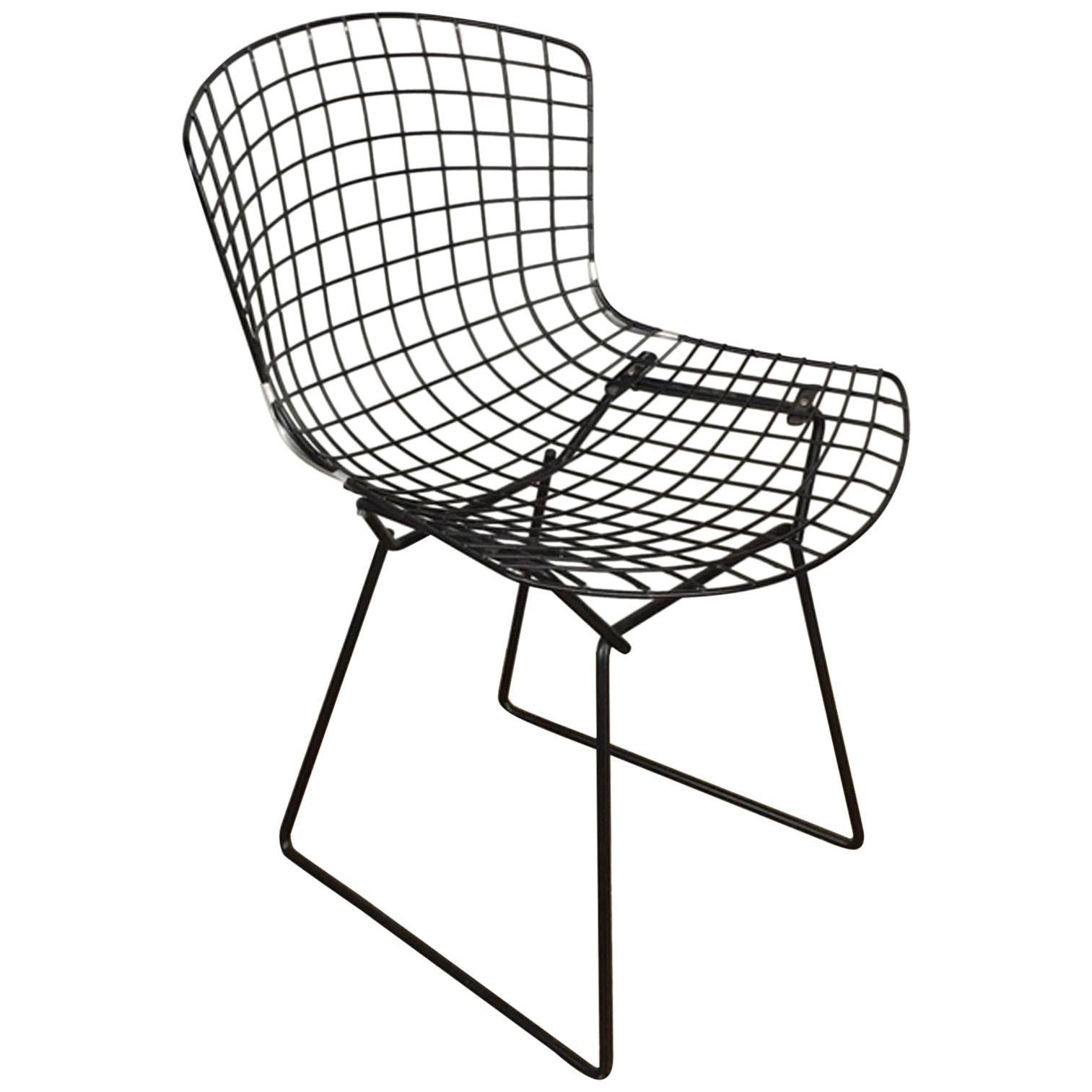 bertoia side chair walmart pool lounge chairs harry black wire for knoll sale at 1stdibs