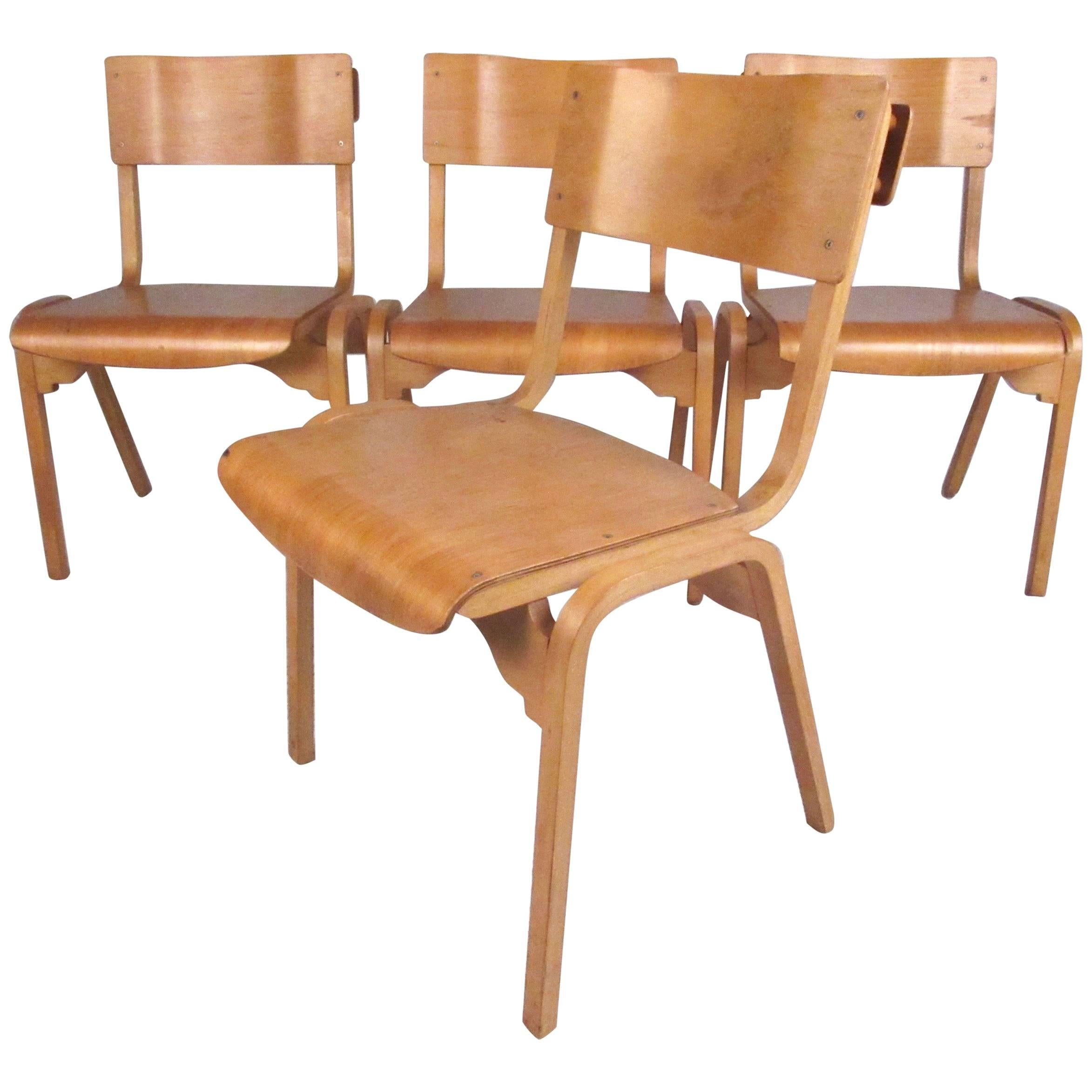 vintage bentwood chairs black padded folding chair at 1stdibs set of modern student