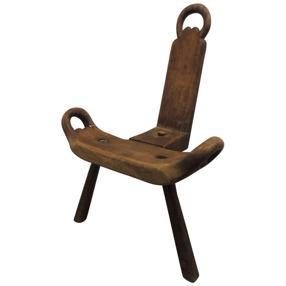 "african birthing chair plans for adirondack chairs vintage primitive ""birthing"" at 1stdibs"