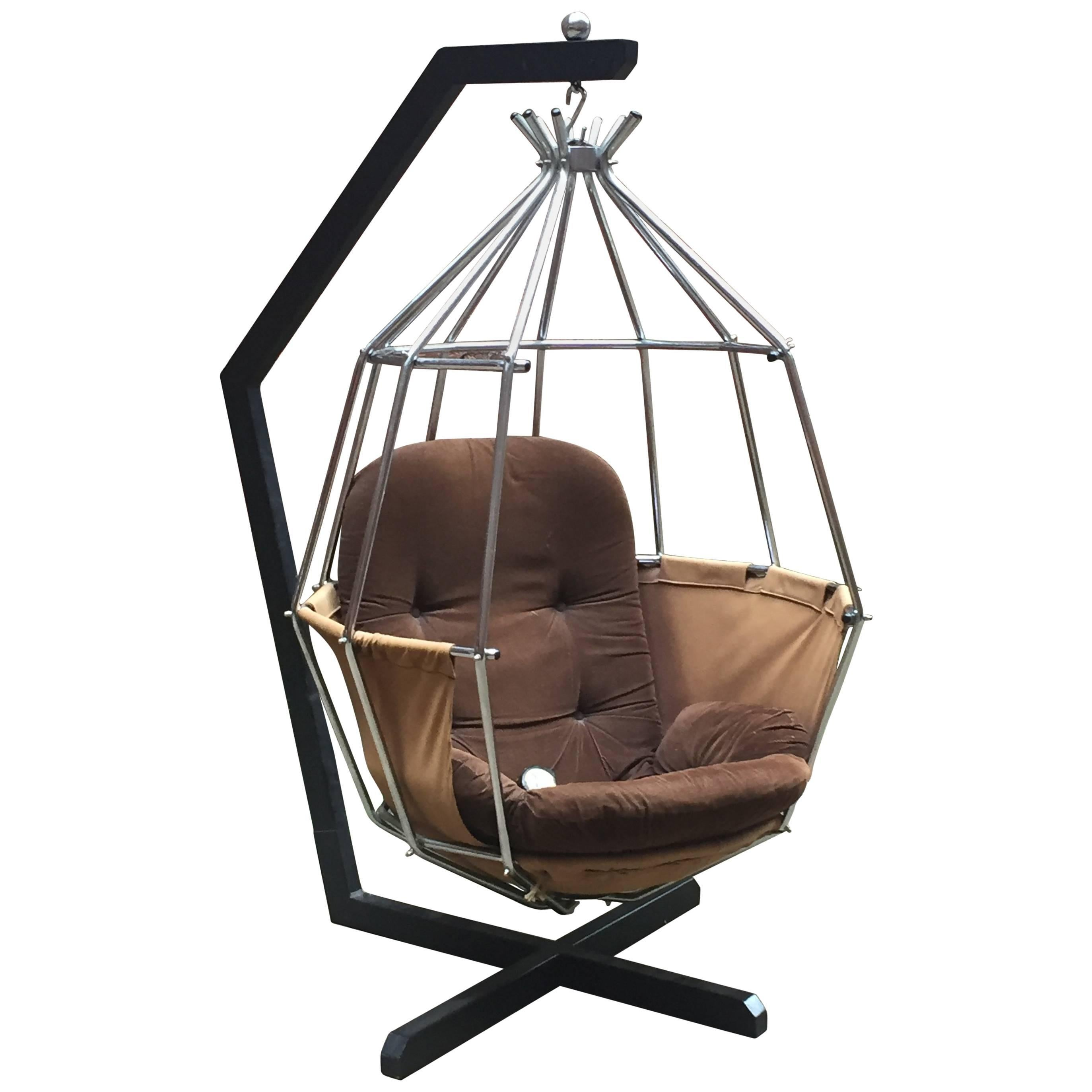 swing chair metal princess potty ib arberg parrot cage for sale at 1stdibs
