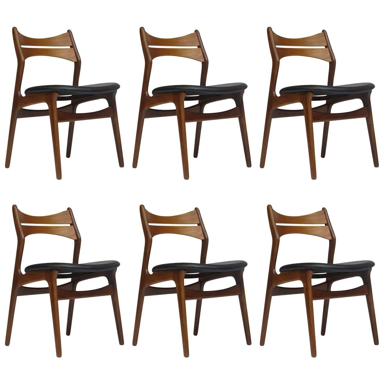 erik buck chairs kids activity table and set of eight model 49 teak dining at 1stdibs 1960s danish six 45 available
