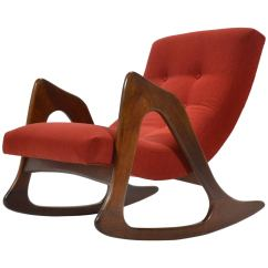 Adrian Pearsall Rocking Chair Baby Bouncer Wave In Leather At 1stdibs By Craft Associates