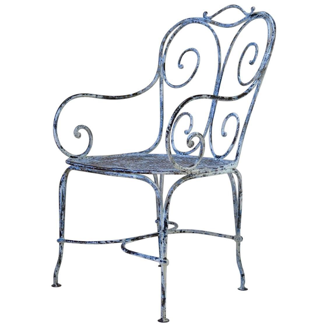 wrought iron chair cover rental saskatoon large france circa 1900 for sale at 1stdibs