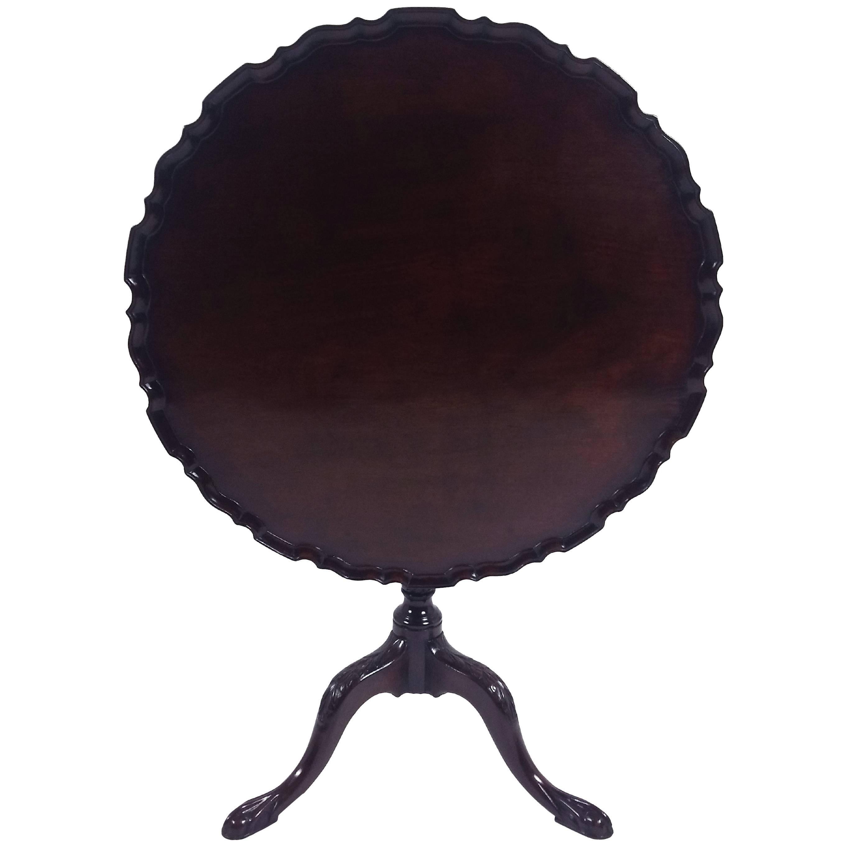 Charleston Mahogany Tilt Top Tea Table With Birdcage Mid