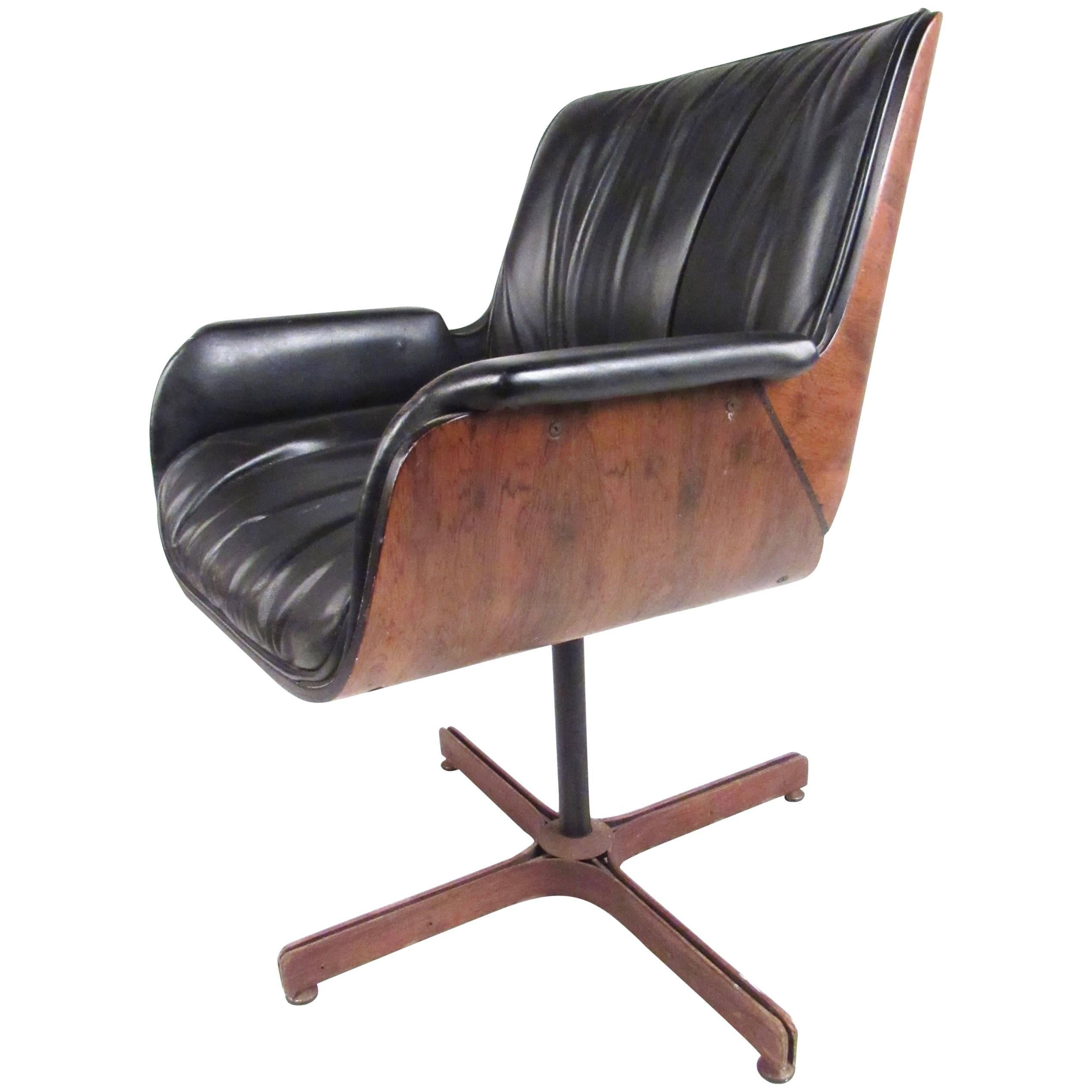 swivel arm chairs cloth desk chair pair of mid century modern leather bentwood armchairs by armchair
