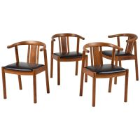 Set of Four Danish Mid-Century Modern-Style Dining Chairs ...