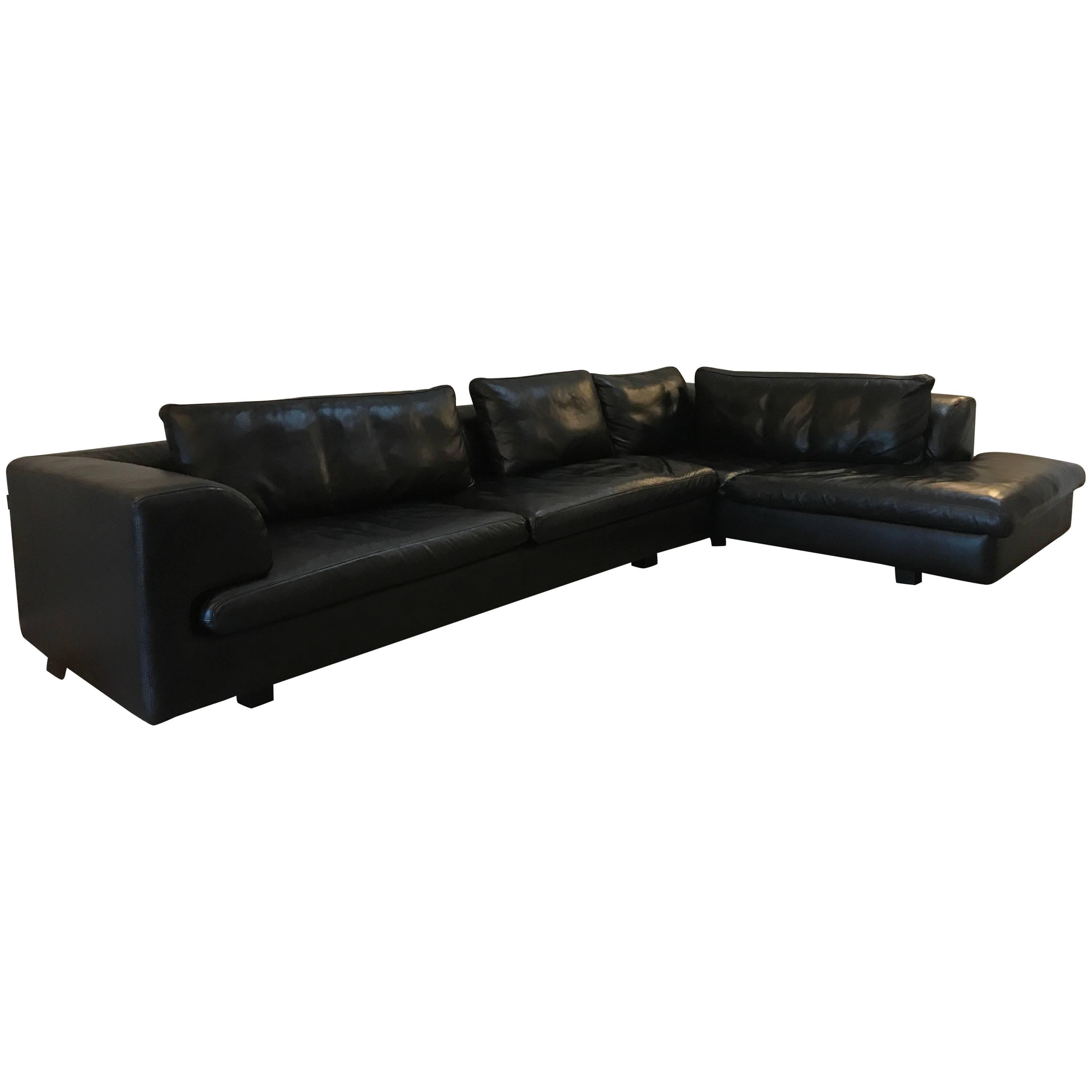 cheap black leather sectional sofas condo sofa bed toronto roche bobois for sale at 1stdibs