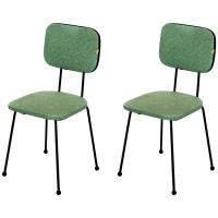 Pair of Vinyl Upholstered Wrought Iron Chairs, Vintage ...