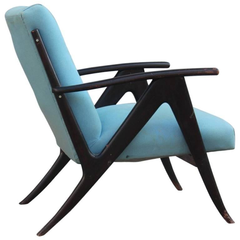 modern armchair design best portable picnic chair mid century 1950s italian wood fabric for sale