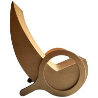 Midcentury Chair Plywood Scandinavian 1970s Unique Bespoke ...