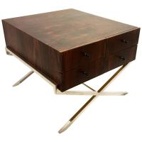 Midcentury Minimalist Rare Rosewood and Chrome Low Cabinet ...