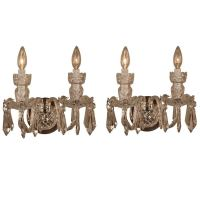 Pair of Waterford Crystal Wall Sconces For Sale at 1stdibs