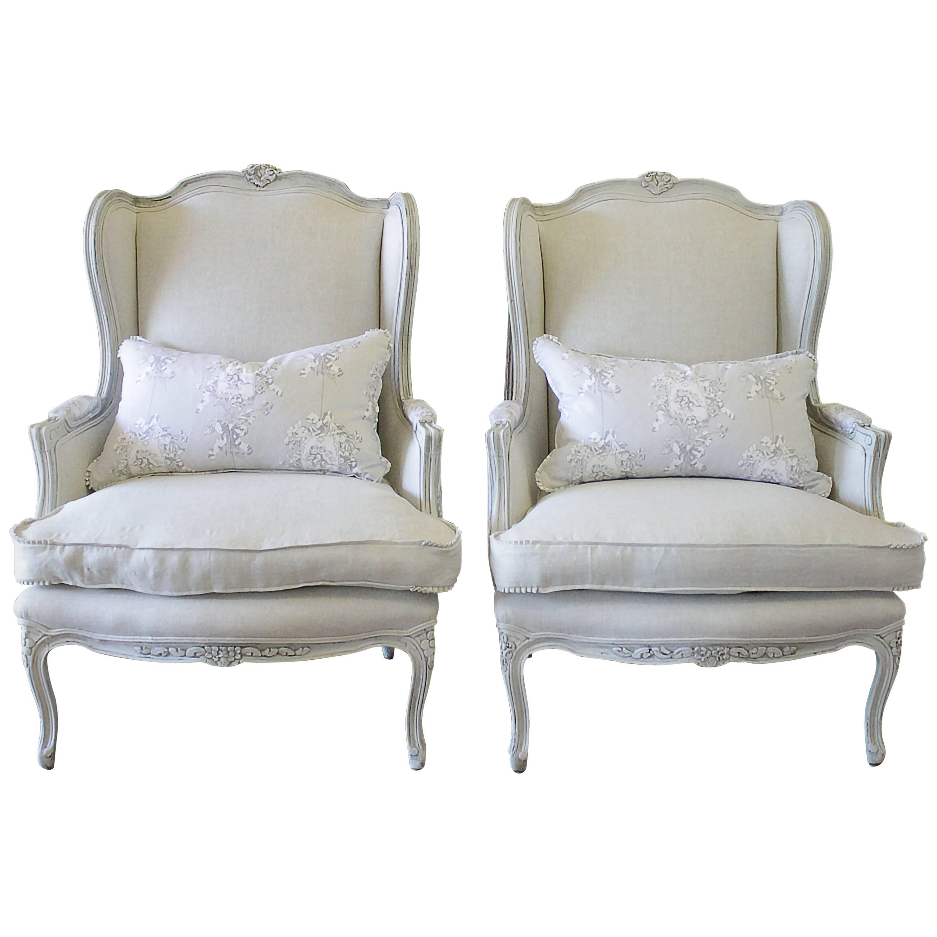country style wingback chairs where to buy chair covers in canada antique pair of french bergere at 1stdibs for sale