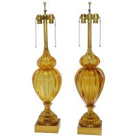 Pair of Murano Lamps at 1stdibs