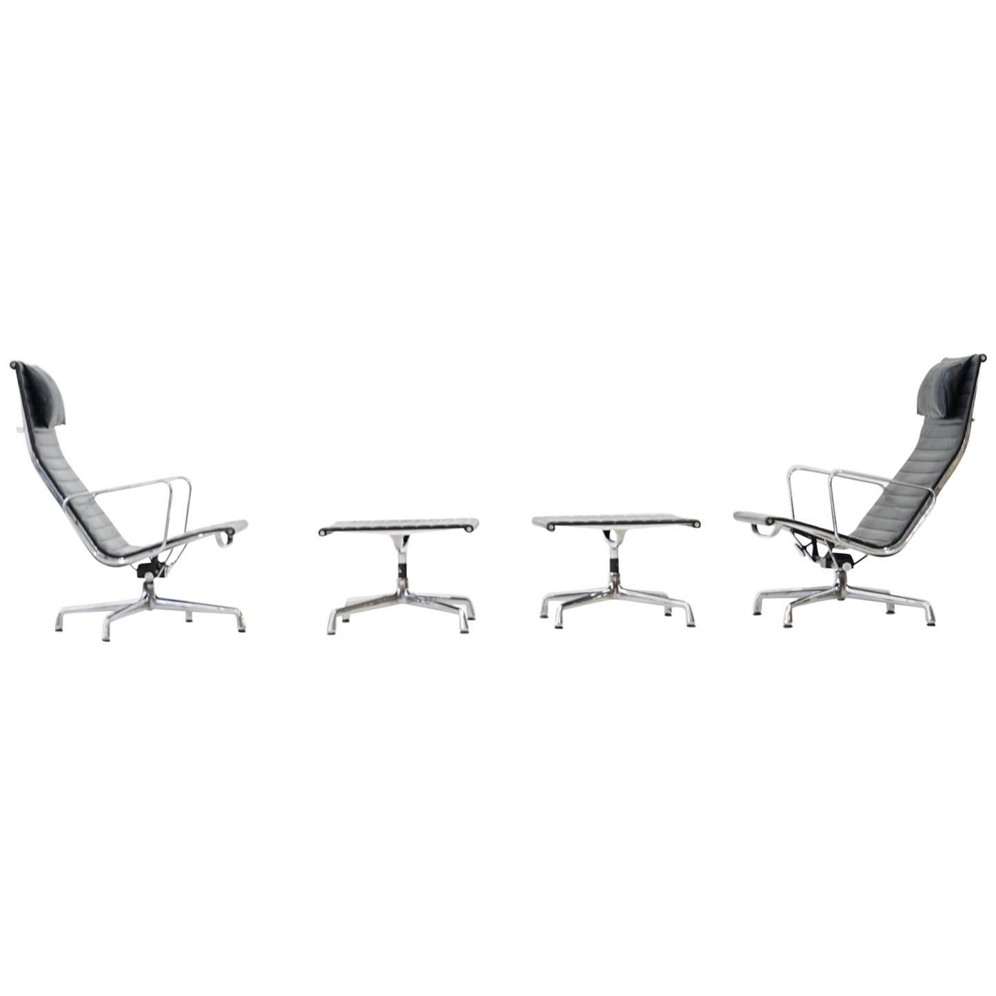 vitra lounge chair recliner covers dunelm ea 124 125 by charles and ray eames at 1stdibs for sale
