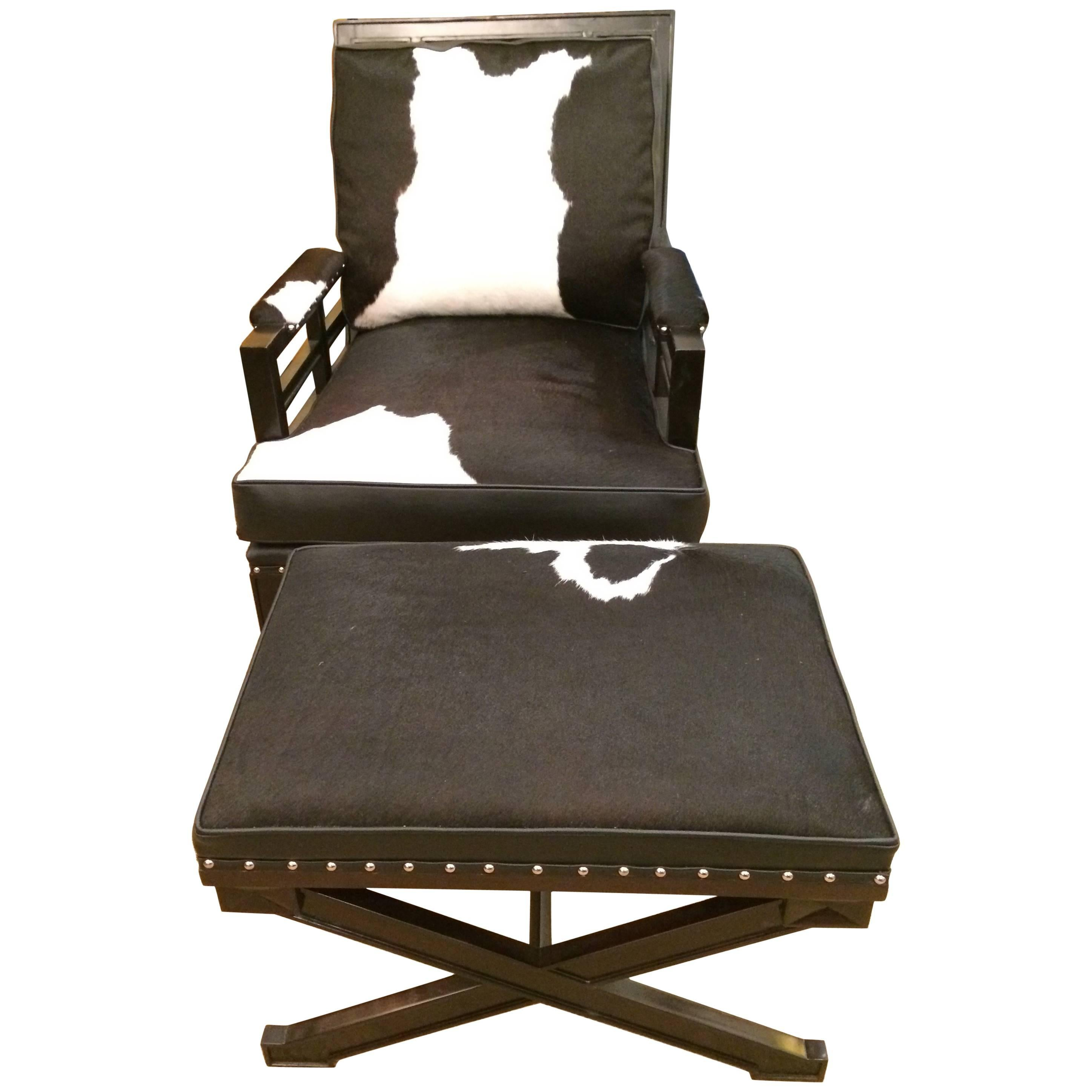 black and white cowhide chair target pillowfort sexy leather club ottoman for sale