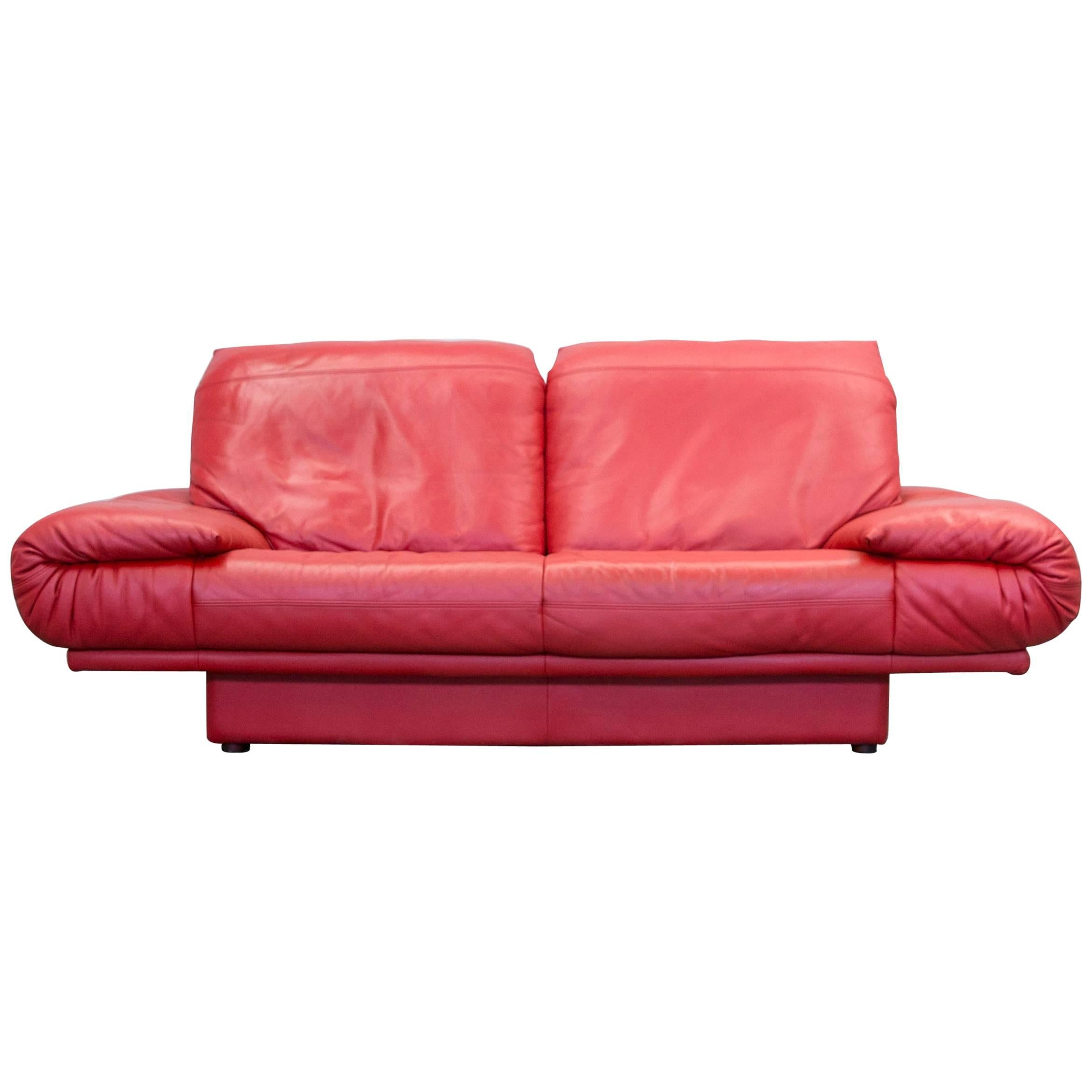 red leather two seater sofa home theater sleeper rolf benz designer seat couch modern at 1stdibs
