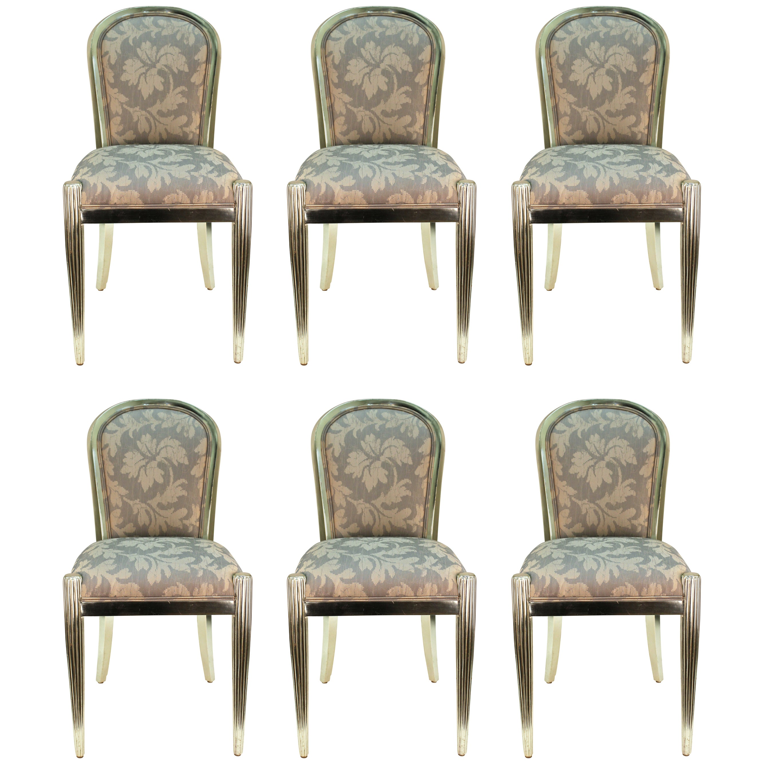 Silver Dining Chairs Art Deco Style Dining Chairs In Silver