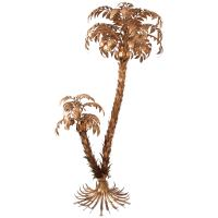 Huge Gilt Metal Two-Trunk Palm Tree Floor Lamp by Hans ...