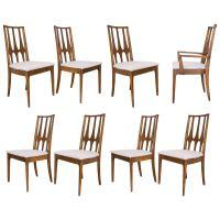 Set of Eight Mid-Century Modern Broyhill Brasilia Dining ...