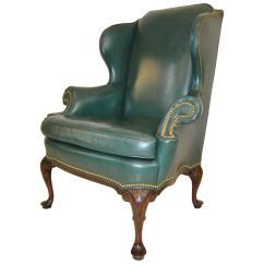 Hancock Moore Chairs Elevator For Homes And Green Leather Wingback Chair With Nailhead Trim Sale At 1stdibs