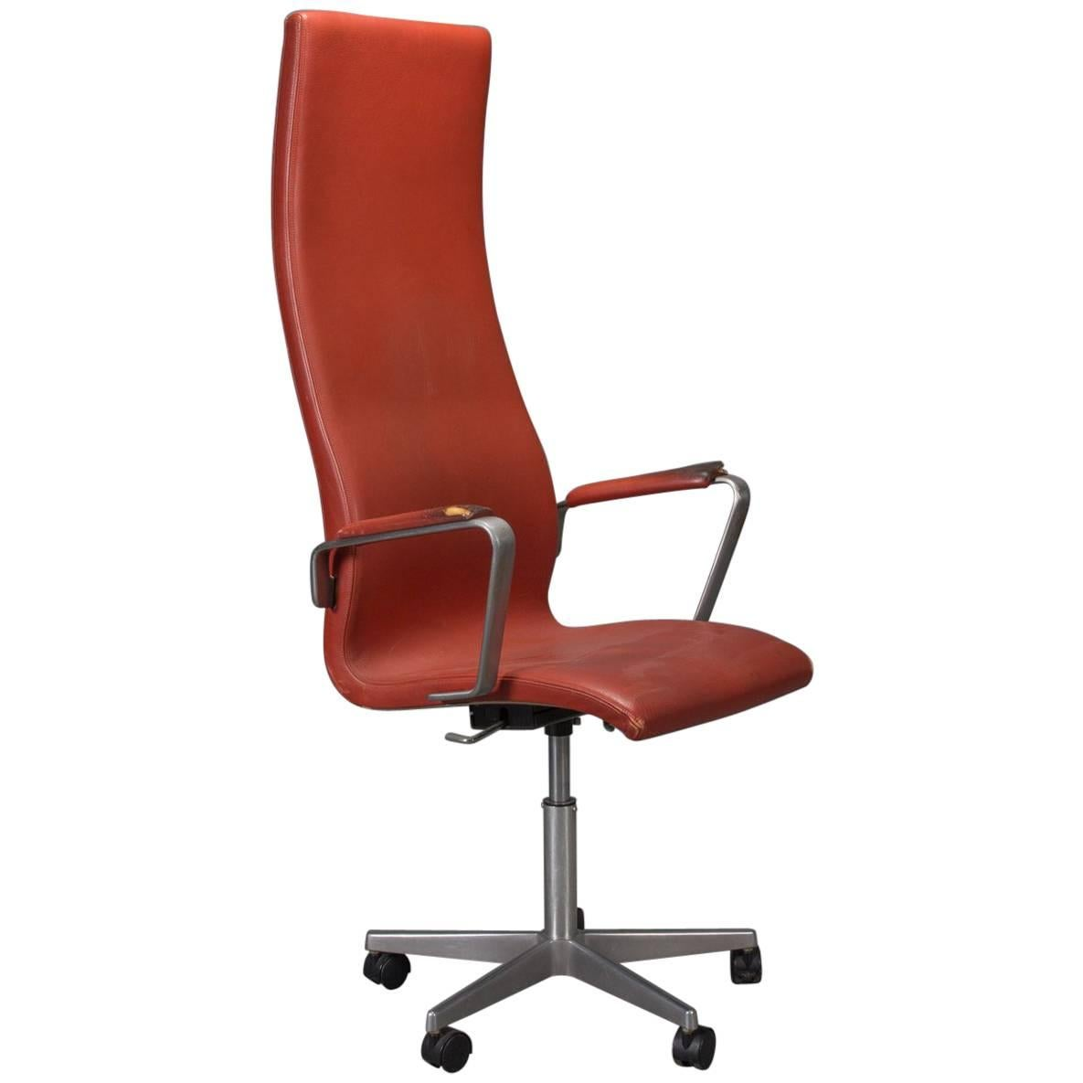 desk chair high antique upholstered rocking styles back leather oxford by arne jacobsen for sale at 1stdibs