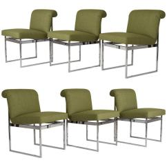 Milo Baughman Dining Chairs Foam Chair That Turns Into A Bed Set Of Six For Sale At 1stdibs