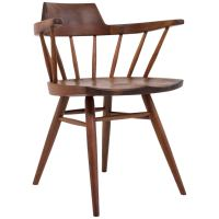 George Nakashima Captain Chair in Black Walnut at 1stdibs