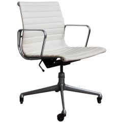 Office Chair Sale Pink Nursery Rocking 1958 Ray And Charles Eames White Vinyl Adjust Tilt Four Wheels