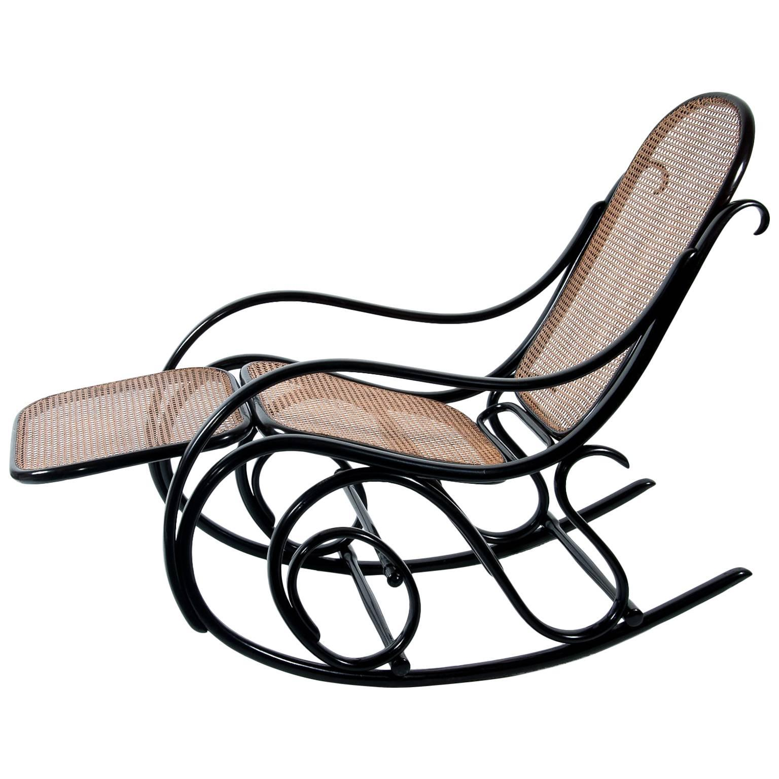 rocking chair footrest best chairs recliner thonet rockingchair no 10 with for sale at 1stdibs