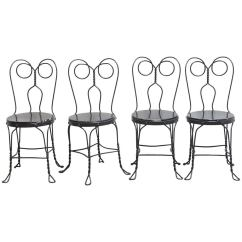 Metal Bistro Chairs Crushed Velvet Chair Covers Ebay Set Of Four Or Ice Cream Parlor For Sale At 1stdibs