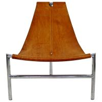 Mid-Century Modern Steel T Lounge Chair Attributed to ...