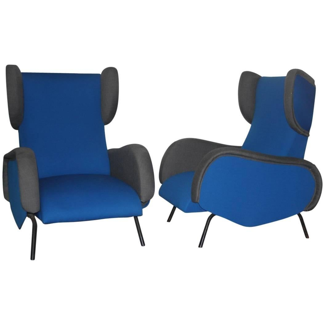 grey modern armchairs fritz co folding chairs mid century very interesting design blue gray color for sale