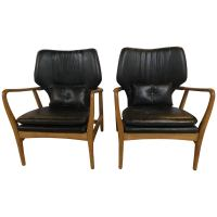 Pair of Mid Century Modern Arm Chairs Made in Yugoslavia ...