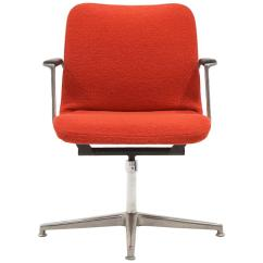 Office Chair Very Cacoon Swing George Nelson Desk Or Rare New Red Boucle Knoll Upholstery For