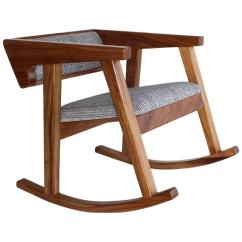 Handmade Rocking Chairs E1038 Transport Chair Mexican Contemporary Conacaste Solid Wood For Sale