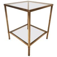 Mid-Century Modern Two-Tier Corner Coffee or End Table at ...