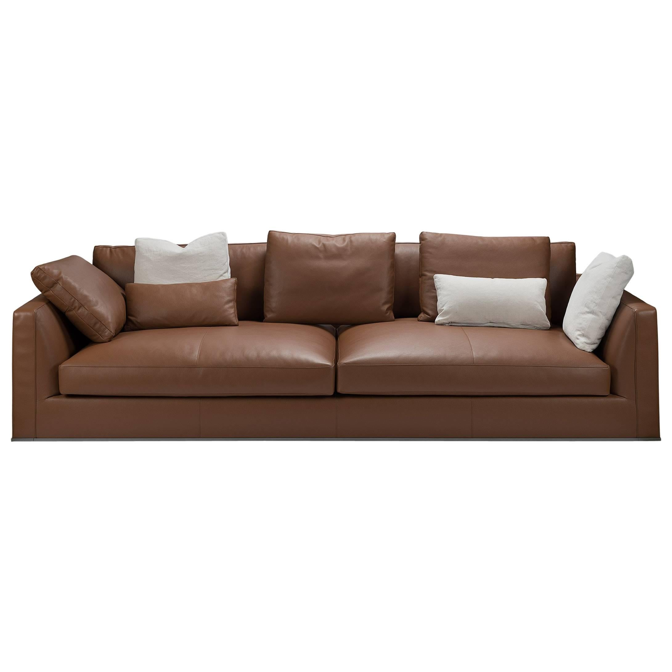 leather italia sofa furniture couch vs bed richard deep by b for sale at 1stdibs