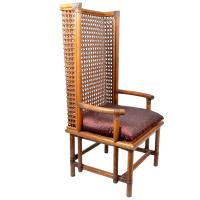 Vintage Bamboo and Cane Chinese Chinoiserie Style High ...