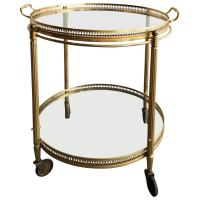 Maison Bagues Brass Bar Cart at 1stdibs