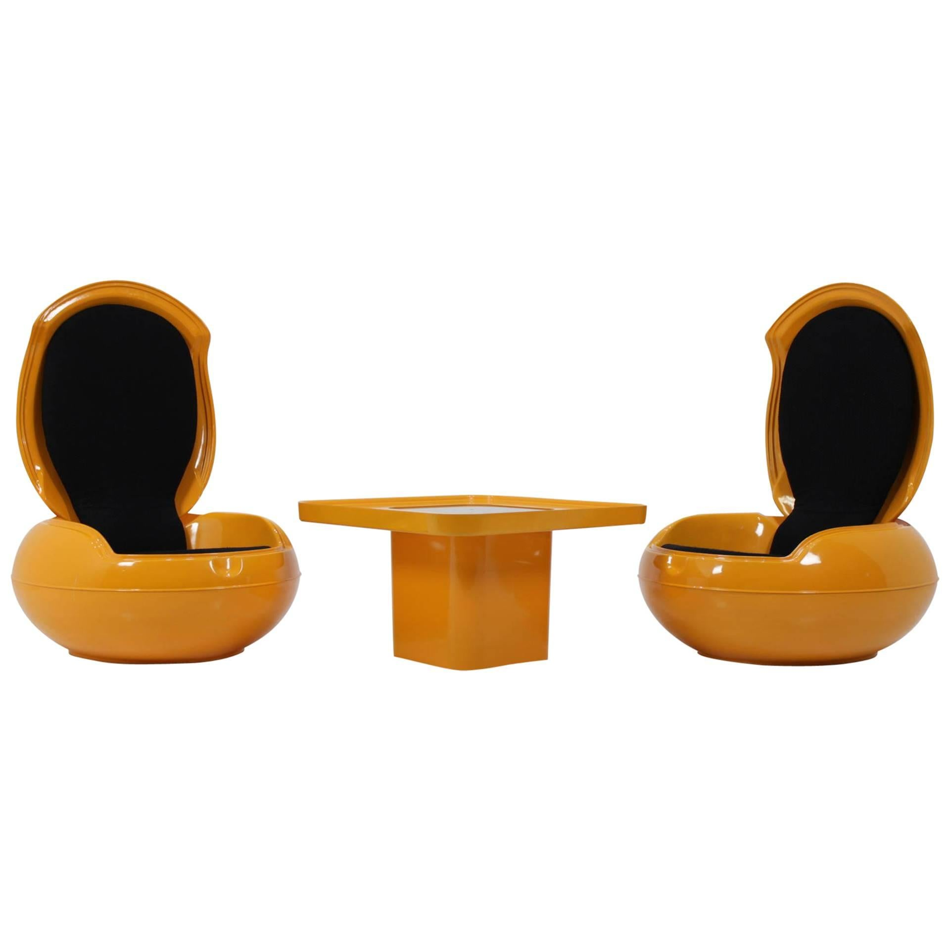egg chairs for sale compact folding chair camping set of very rare two garden with table peter ghyczy