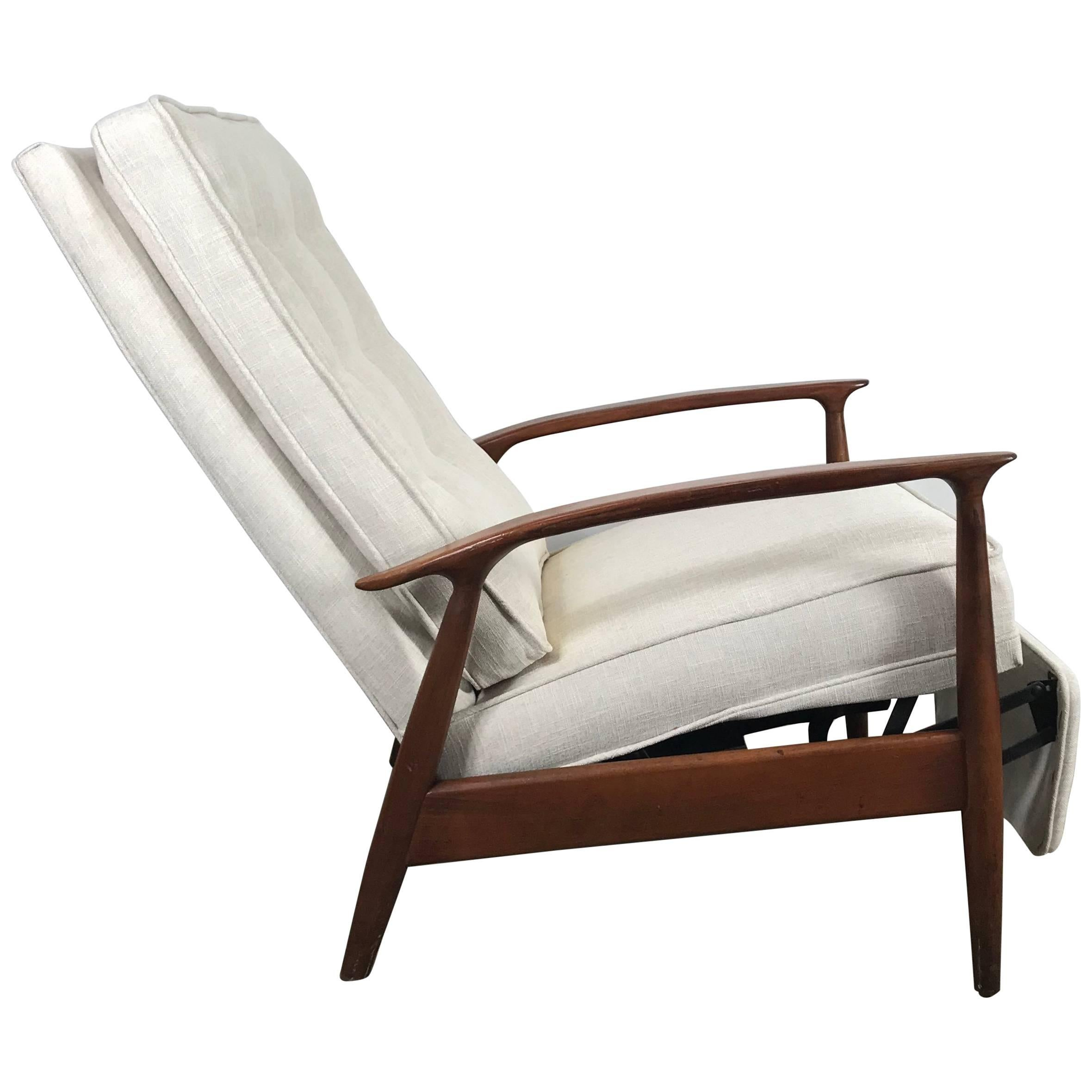 Classic Chair Classic Modernist Reclining Lounge Chair By Milo Baughman