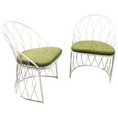 Unusual Outdoor Chairs Hanging Chair Ebay Australia Pair Of Salterini Wrought Iron Patio Garden For Sale