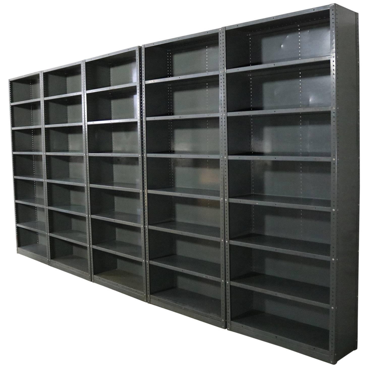 industrial steel bookcase shelving