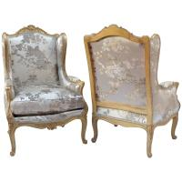 Louis XV Style Pair of Wing Chairs, circa 1880 For Sale at ...